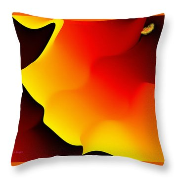 Abstract 515 8 Throw Pillow