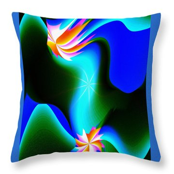 Abstract 615 1 Throw Pillow by Kae Cheatham