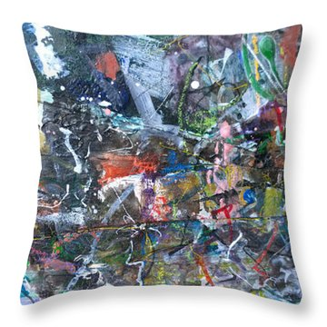 Abstract #69 - Revised Throw Pillow
