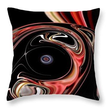 Abstract 7-26-09-b Throw Pillow by David Lane