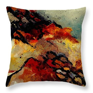Abstract 780707 Throw Pillow by Pol Ledent