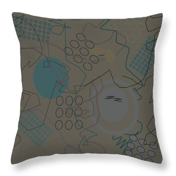 Abstract 8 Brown Throw Pillow