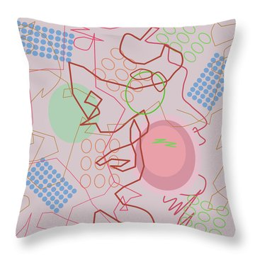 Abstract 8 Pink Throw Pillow
