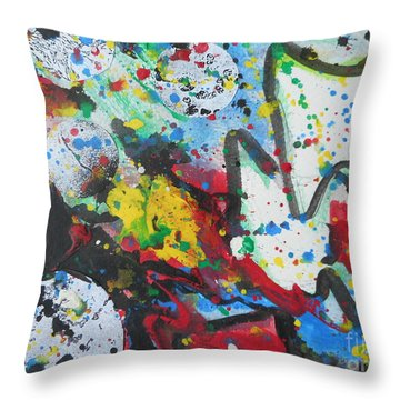 Abstract-9 Throw Pillow