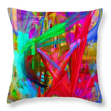 Abstract 9028 Throw Pillow