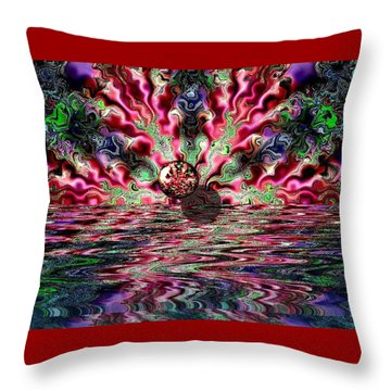 Abstract 93016.1 Throw Pillow