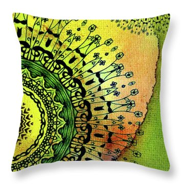 Abstract Acrylic Art The Garden Throw Pillow by Saribelle Rodriguez