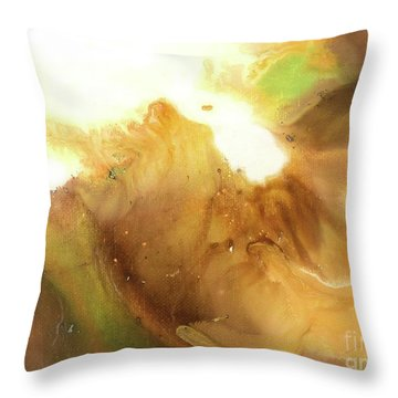 Abstract Acrylic Painting Fantasy Throw Pillow by Saribelle Rodriguez