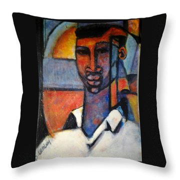 Abstract African Throw Pillow