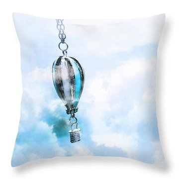 Abstract Air Baloon Hanging On Chain Throw Pillow