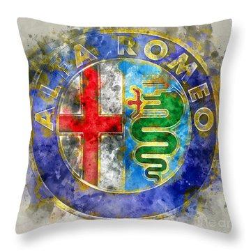 Abstract Alfa  Throw Pillow