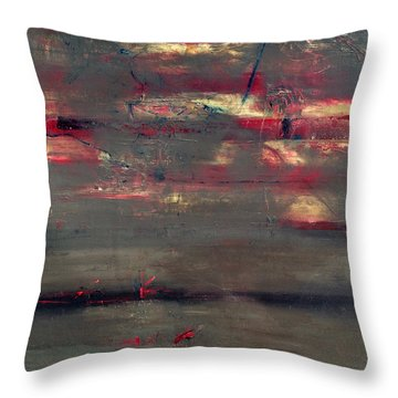 Abstract America   Throw Pillow by Antonio Ortiz