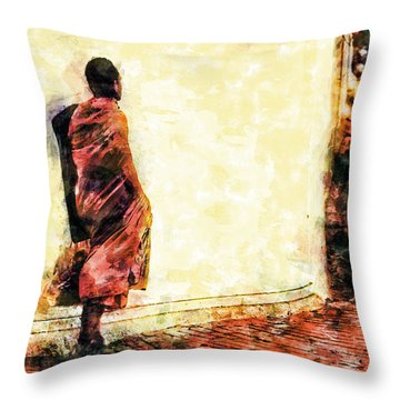 Abstract And Bold Throw Pillow