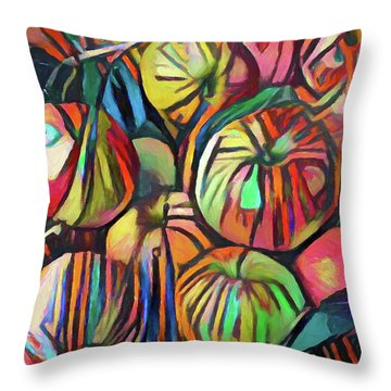 Abstract Apples Throw Pillow