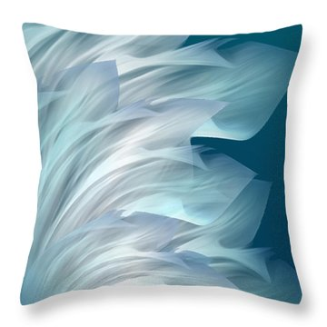 Abstract Art - Everlasting Grace By Rgiada Throw Pillow by Giada Rossi