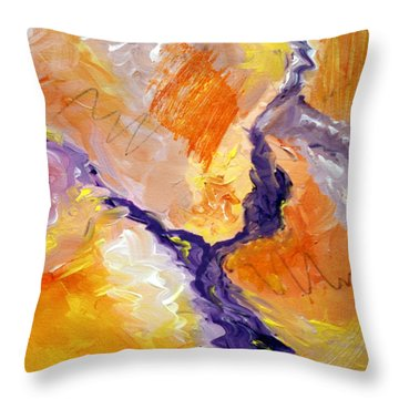 Abstract Art - Fire River Throw Pillow