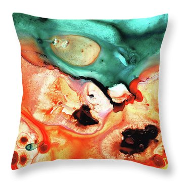 Abstract Art - Just Say When - Sharon Cummings Throw Pillow by Sharon Cummings