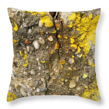 Abstract Art Seen In Parking Lot Throw Pillow by Sandra Church