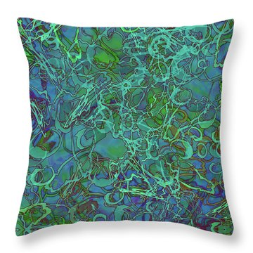 Abstract Azurite Throw Pillow