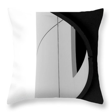B / W   Abstract  Throw Pillow