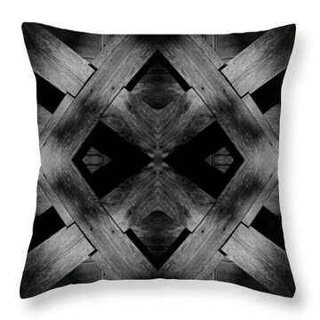 Throw Pillow featuring the photograph Abstract Barn Wood by Chris Berry