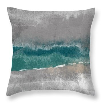 Abstract Beach Landscape- Art By Linda Woods Throw Pillow