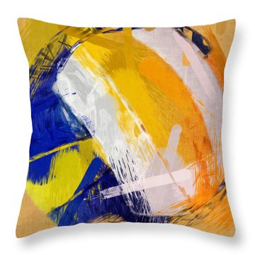 Abstract Beach Volleyball Throw Pillow