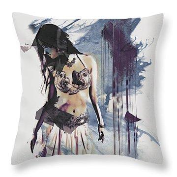 Abstract Bellydancer Throw Pillow