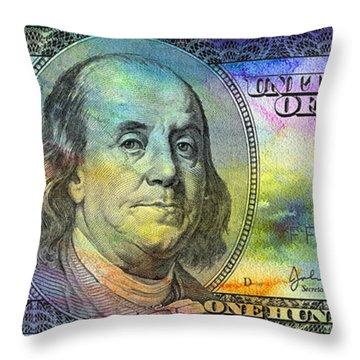 Abstract Ben Throw Pillow