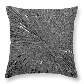 Throw Pillow featuring the painting Abstract Black And White A182516 by Mas Art Studio