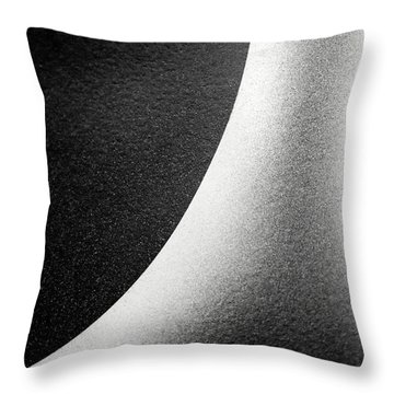 Abstract-black And White Throw Pillow
