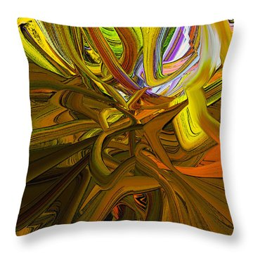 Abstract Blend 44 Throw Pillow