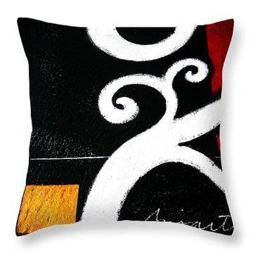 Abstract Blooms Throw Pillow by Pristine Cartera Turkus