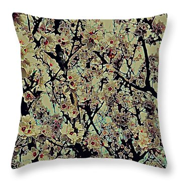 Abstract Blossoms Throw Pillow