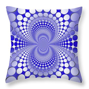 Abstract Blue And White Pattern Throw Pillow