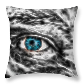 Throw Pillow featuring the photograph Abstract Blue Eye by Scott Carruthers