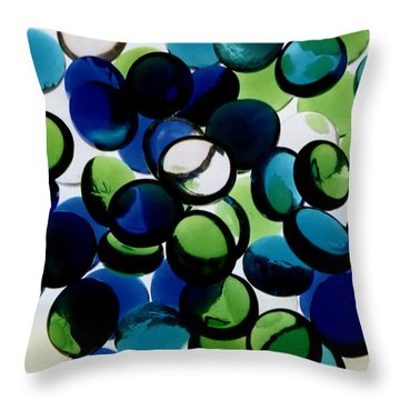 Abstract Blue Green II Throw Pillow