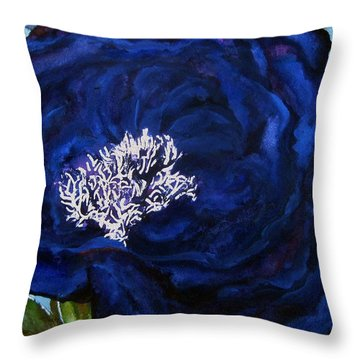 Abstract Blue Throw Pillow by Lil Taylor