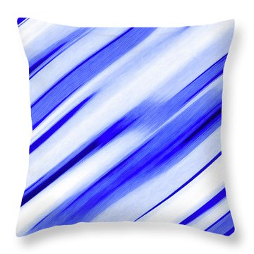Picking Up Good Striations Throw Pillow