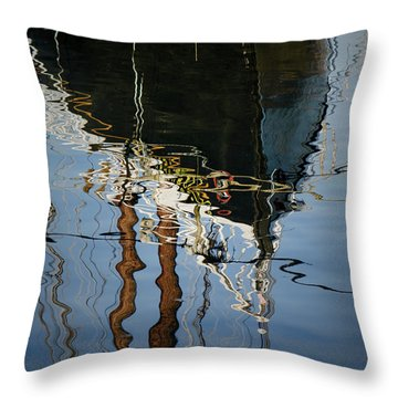 Abstract Boat Reflection IIi Throw Pillow