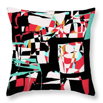 Abstract Boxes Throw Pillow by Jessica Wright