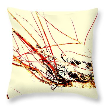 Abstract Branch Throw Pillow by Fred Wilson