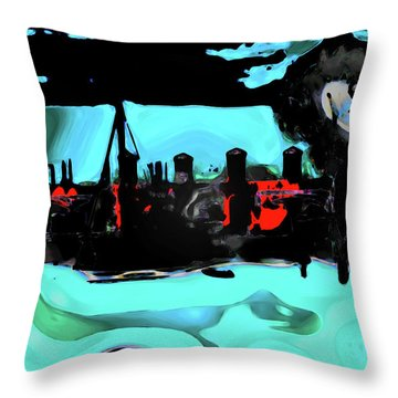 Abstract Bridge Of Lions Throw Pillow