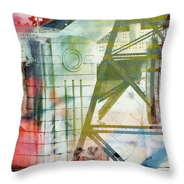 Abstract Bridge With Color Throw Pillow