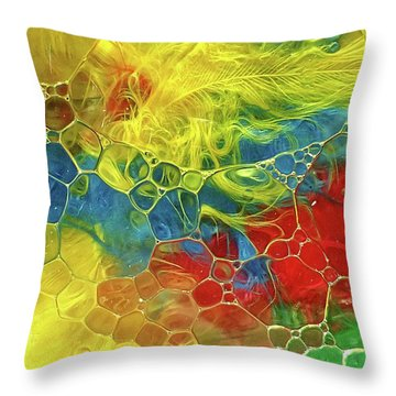 Abstract Bubble Feathers Throw Pillow