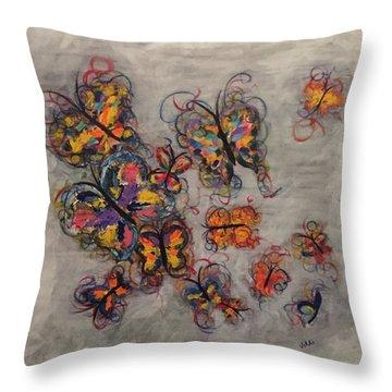 Abstract Butterflies Throw Pillow