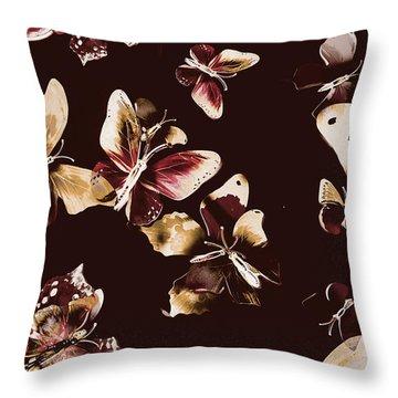 Abstract Butterfly Fine Art Throw Pillow