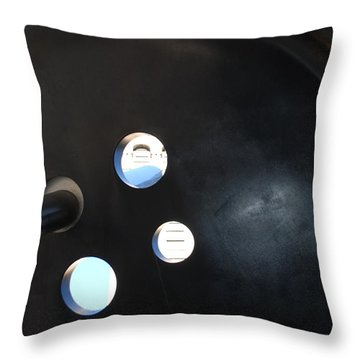 Abstract Button Holes Throw Pillow by Rob Hans