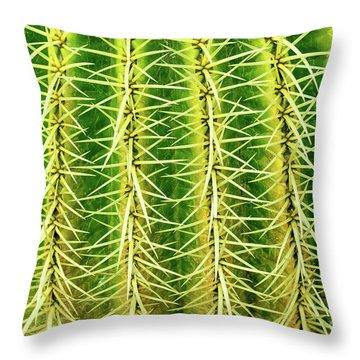 Abstract Cactus Throw Pillow