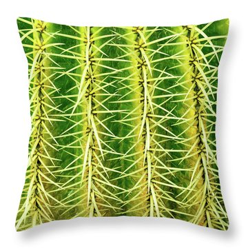 Abstract Cactus Throw Pillow by Delphimages Photo Creations